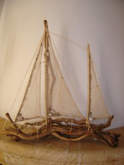 DRIFT WOOD ART-  TREIBHOLZKUNST (dinapanou) Tags: sea nature boot boat meer handmade ships greece homemade grecia handcrafted griechenland holz homedecor creations shiff woodenboats treibholzkunst