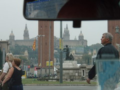 Barcelona from a taxi