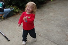 dancing in the driveway