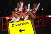 Diversion! <-- (pastamaster39) Tags: street girls london happy closed cheerleaders legs cheer diversion
