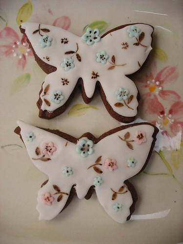 Painted Butterfly Cookies