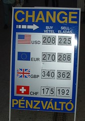 Changing money in Budapest 1