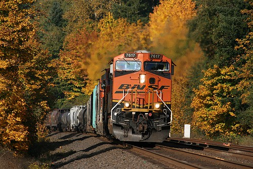 BNSF Freight near Winlock, WA by Brian Bundridge