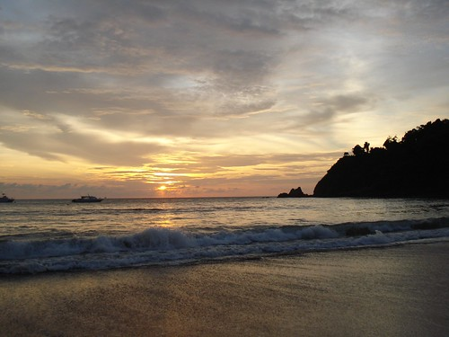 Krabi: Thailand: Sunset at the beach