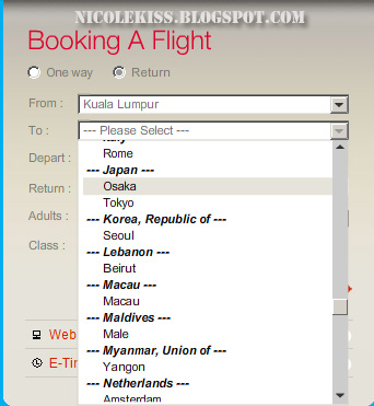 booking flight