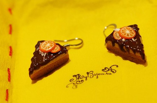 My new earrings - like tasty cake!