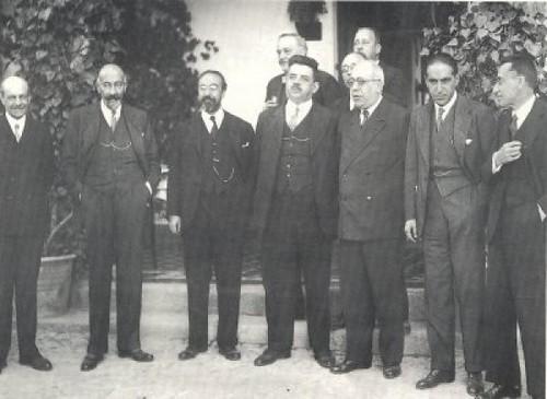 Edouard Herriot y Manuel Azaña en Toledo (Fotografía Rodríguez)