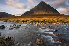 Buachaille Etive Mr (David Kendal) Tags: glencoe buachaille goldenhour glenetive rannochmoor munro scottishhighlands buachailleetivemor buchaille stobdearg a82 scottishlandscape smallwaterfall scottishscenery watermovement scottishmountain aplusphoto rivercoupall reflectyourworld