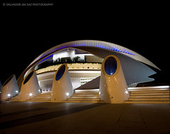 An unusual view of the Valencia's Opera House (Salva del Saz) Tags: city blue santiago light espaa house black luz valencia azul architecture night canon eos noche reina spain arquitectura opera long exposure ship sofia negro tube arts ciudad organ calatrava organo cac artes 1022mm dri tubo palau sciences funnel 1022 exposicion larga palacio ciencias dynamicrangeincrease efs1022 40d salvadordelsaz salvadelsaz