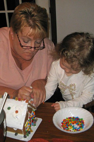 Building a Gingerbread House with Grandma