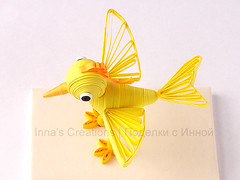 Bird. 3D quilling (top view)