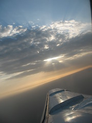 on an airoplane (Mahsa3611) Tags: sky sun clouds iran airoplane