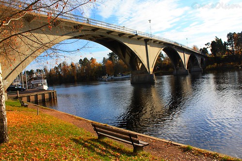 The bridge of the Leksand - Sverige
