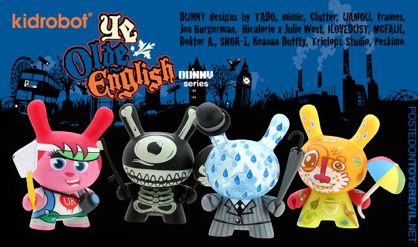 "Dunny Ye Olde English Series kidrobot 3/"" FRAMES"