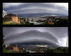 Shelf Cloud (Garry - www.visionandimagination.com) Tags: sky storm clouds oz pano wolken australia brisbane qld 5d aus gewitter shelfcloud wwwvisionandimaginationcom