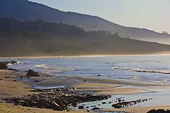 Beach and Mountains 9726.4 (Kurt Preissler) Tags: california sea mountain mountains beach rock coast sand waves cliffs line pch highway1 pacificocean shore formations ridges us101 santabarbaracounty pacificcoasthighway canoneos5d kurtpreissler preisslermediaservices