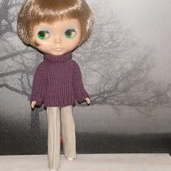 Grape Chunky Sweater