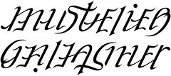 """Mustelier"" & ""Gallagher"" Ambigram"