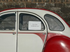 2cv Dolly for sale. (C.Elston) Tags: street red white stone wall for sale citroen buy 2cv dolly sell 2200 2cv6
