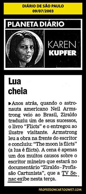 """""""Lua cheia"""" - Diário de São Paulo - 09/07/2003"""