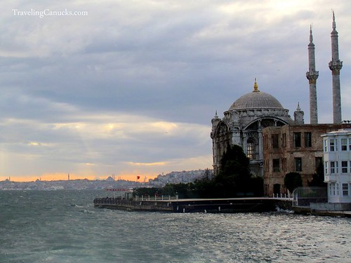 Dolmabahce Mosque from Bosphorus River, Istanbul