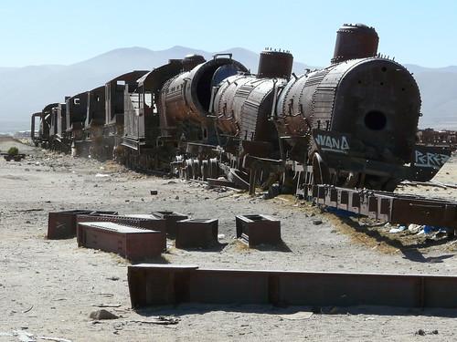 Le cimetière de trains d'Uyuni