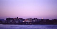 Corfù (1991) (lorenzog.) Tags: sea water sunrise 50mm pentax slide greece 1991 kerkira corfù scanfromslide canonscanfs400us