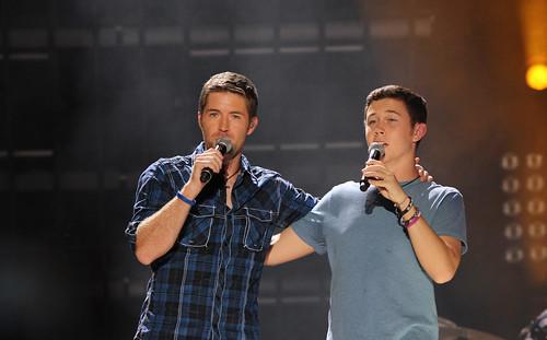 Scotty McCreery with Josh Turner - CMA Fest 2011 - LP Field - Nashville, Tennesse