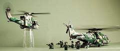 Deep strike (Aleksander Stein) Tags: model lego bell military utility helicopter escort gunship whirlwind ndc modernized arapaho 412sp eh191