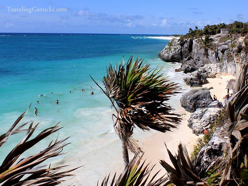 Beach at Tulum Temple, Mexico