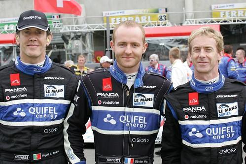 Miguel Pai do Amaral, Olivier Pla e Warren Hughes Le Mans 2010