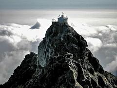 Temple in the sky (vittorio vida) Tags: india mountains clouds asia temples gujarat pilgrims junagadh girnar