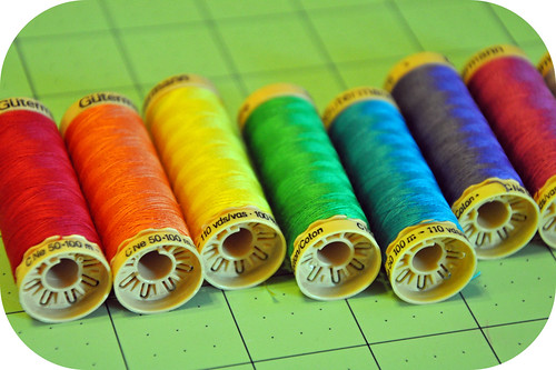 Rainbow Gutermann Thread