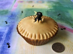 Four and twenty blackbirds ..... (abbietabbie) Tags: cake pie explore cupcake blackbird fondant nurseryrhyme singasongofsixpence piecrustfunnel chamilton