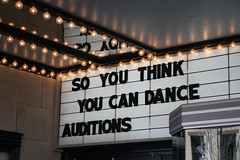 Sign after producers removed the date (kicksie) Tags: auditions soyouthinkyoucandance