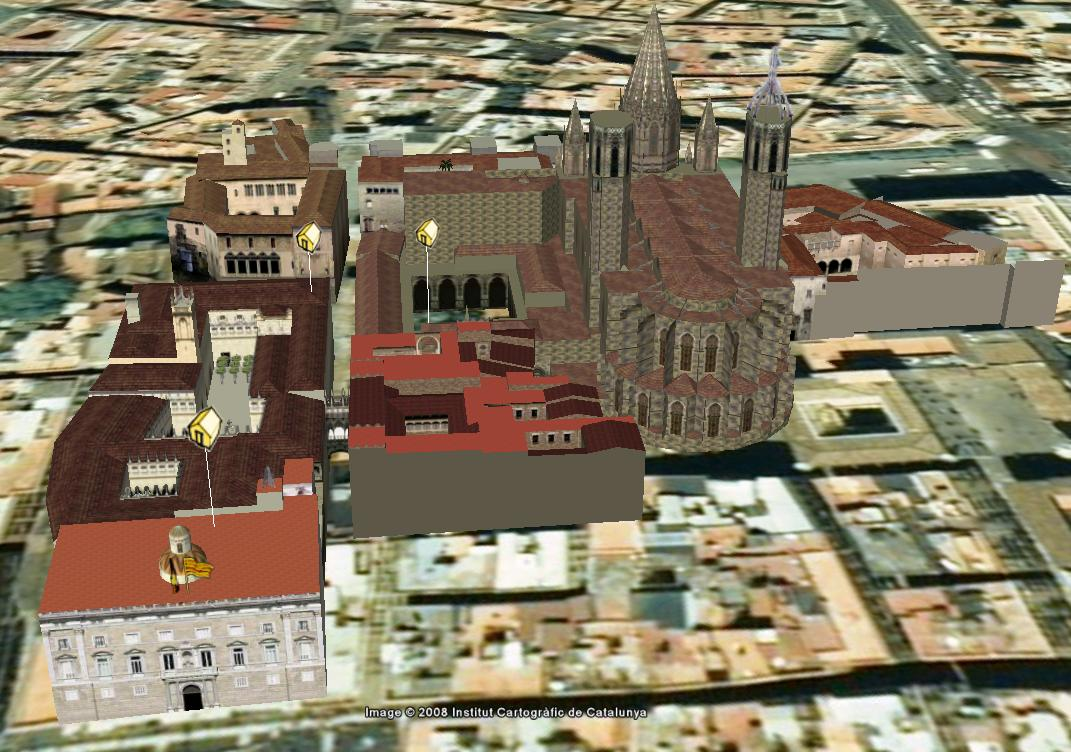 Edificis en 3D al Google Earth