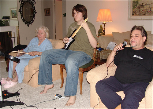 My Family Playing Rock Band