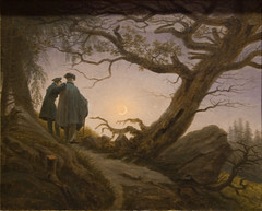 Two Men Contemplating the Moon, ca. 182530 (Maulleigh) Tags: new york city two moon david men art museum met metropolitan metropolitanmuseum contemplating caspar friedrich