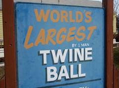 World´s Largest Twine Ball By 1 Man