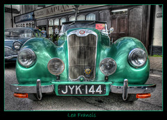 Lea Francis (Roger.C) Tags: old green classic car sport festival canon francis lights display transport fair gloucestershire grill chrome lea handheld 1855mm collectors hdr coleford 30d motoring 3exp abigfave diamondclassphotographer platinumheartaward