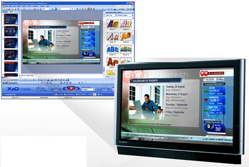 digital signage with powerpoint