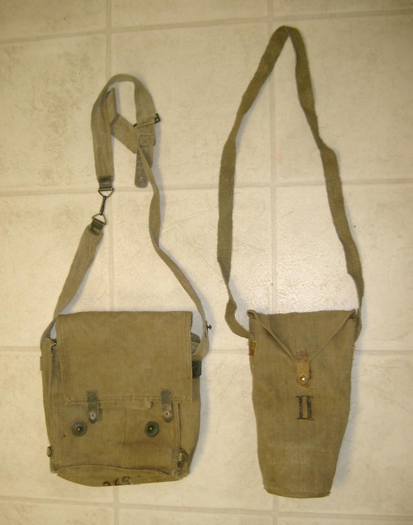 Italian M33 & M35 Gas Mask Bags