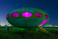 Close Encounter (Noel Kerns) Tags: abandoned night texas alien ufo munson invaders futuro
