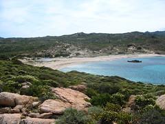 Entre Tonnara et Stagnolu : en vue de la plage de Stagnolu
