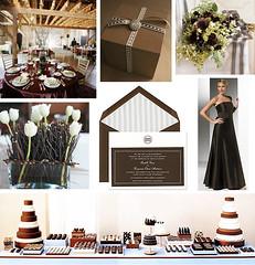 2512697324 b31f11cce8 m Baú de ideias: Decoração de casamento marrom (chocolate) e outras cores