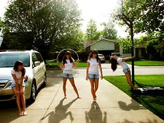 Kara x4 (Kara.Marie) Tags: kara outside four shadows 4 driveway clones clone hulahoop