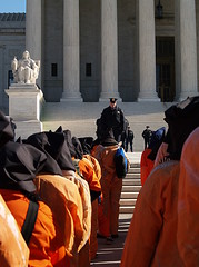 January 11, 2007: In Black Hoods & Orange Jump...