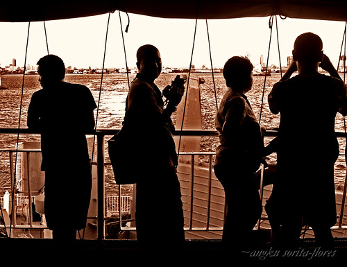 Passengers at the Superferry railing
