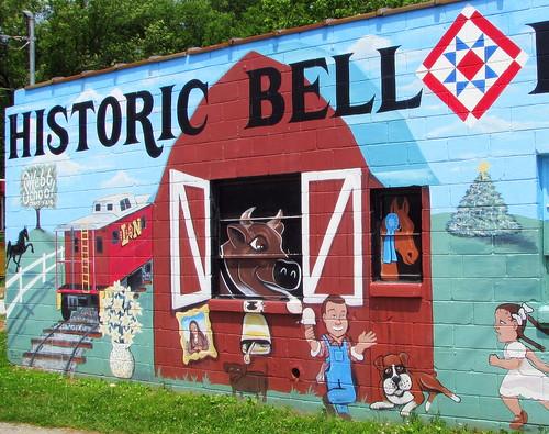 Bell Buckle Mural left half