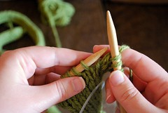 Day 1 (knitting the green snake)